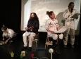 Foto: Nina Hitze. V.l. Jean Kharratha, Malika Ziouech, Kenneth George